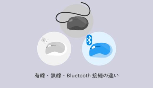【マウス】有線・無線・Bluetooth接続の違いをわかりやすく解説