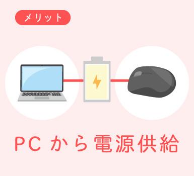 PCから電源供給