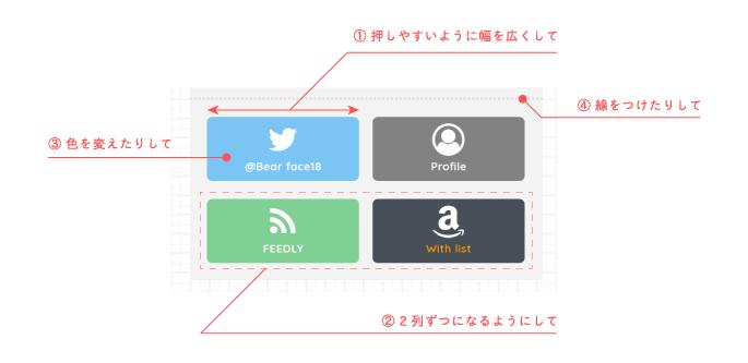 SNSボタンの変更部分