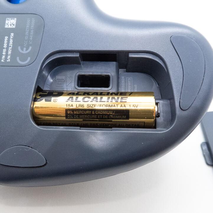 電池を入れる部分