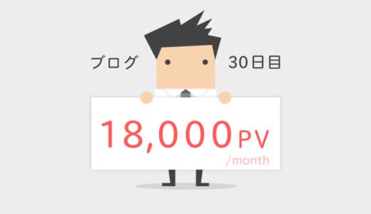 ブログ開始1ヶ月目、月間18,000PV!結果とやったこと