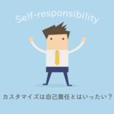 カスタマイズは自己責任。ぼくはこんな風に思っています。
